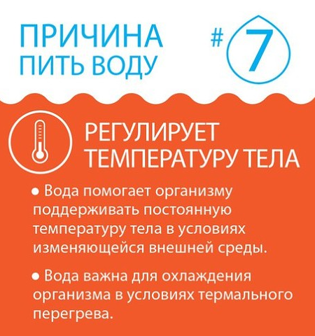 Вода-регулятор температуры тела