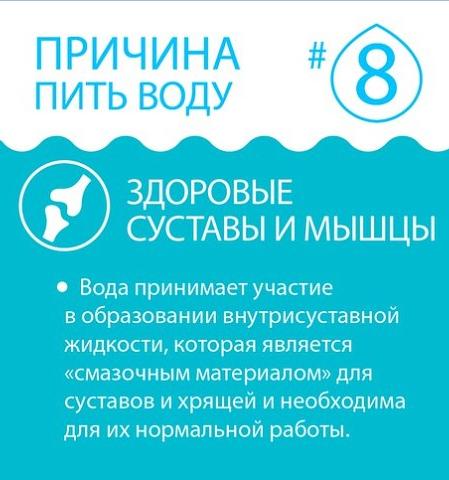 Вода обеспечивает здоровье суставам и мышцам