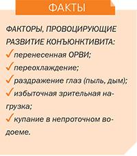 Факторы развития конъюнктивита лечение в центре Возрождение здоровья Киев